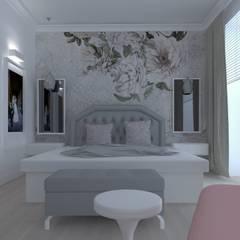 Sypialnia glmour: styl , w kategorii Sypialnia zaprojektowany przez SH-ONLINE  Bartosz Strzałkowski,