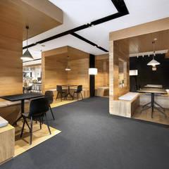 2017. PAGEONE BOOKSTORE SANLITUN: Lojas e espaços comerciais  por NOCNOC STUDIO,Moderno