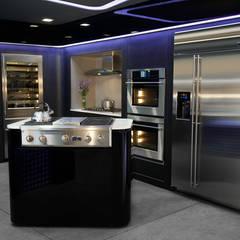 Showroom MABE GDL : Muebles de cocinas de estilo  por TALLER GRADO 13 ARQUITECTURA, Moderno