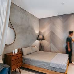Bedroom by MSBT 幔室布緹, Scandinavian Reinforced concrete
