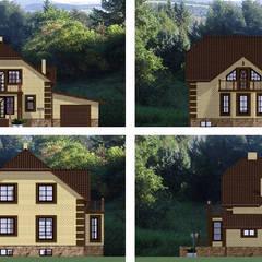 Arprojects | Проектирование домов의  테라스 주택, 클래식 벽돌