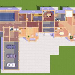 كوخ تنفيذ Arprojects | Проектирование домов , ريفي خشب Wood effect