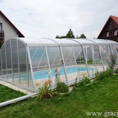 Zadaszenie basenu Gracja Komfort: styl , w kategorii Basen zaprojektowany przez GRACJA SP. Z O.O.,