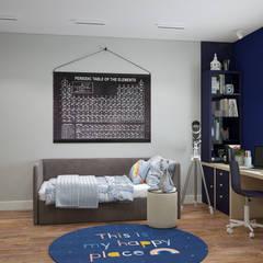 Современная классика в холодных тонах: Спальни для мальчиков в . Автор – «Студия 3.14», Минимализм