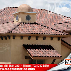 Hipped roof by MACERE México, Rustic Ceramic
