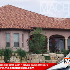 Hipped roof by MACERE México, Country Ceramic