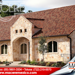 Gable roof by MACERE México, Rustic Ceramic