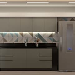 Kitchen units by Taís Duque Arquitetura,