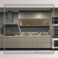 Kitchen units by Ascvarquitetas, Modern Wood Wood effect