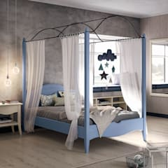 Teen bedroom by Mobili a Colori , Country Solid Wood Multicolored