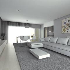 Interiores: Salas de estar  por Redbee,Moderno