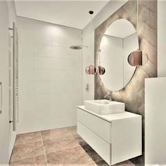 Phòng tắm phong cách thực dân bởi Wkwadrat Architekt Wnętrz Toruń Thực dân Gạch ốp lát