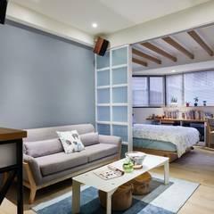 Dormitorios pequeños de estilo  por 弘悅國際室內裝修有限公司 , Escandinavo