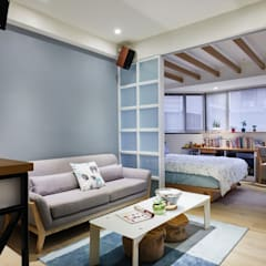 Small bedroom by 弘悅國際室內裝修有限公司, Scandinavian