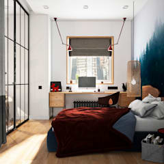 Small bedroom by Aya Asaulyuk Design, Eclectic