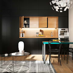 Built-in kitchens by Aya Asaulyuk Design, Eclectic
