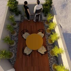 Remo-delación casa - habitación : Casas ecológicas de estilo  por CADI, Moderno Azulejos