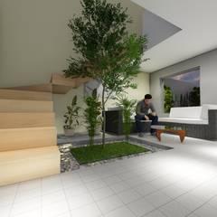 Terrace house by CADI, Minimalist Granite