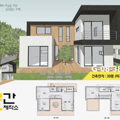 공간제작소 설계사례 #8: 공간제작소(주)의  목조 주택,모던