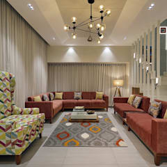 ห้องนั่งเล่น โดย Pranay Shah Designs, โมเดิร์น