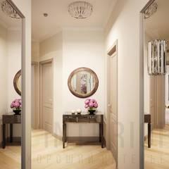 Дизайн проект виллы в Ницце: Коридор и прихожая в . Автор – Дизайн студия 'Хороший интерьер',