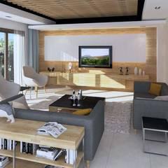 KALYA İÇ MİMARLIK – Antalya'da Bir Villa Projesi:  tarz Oturma Odası,