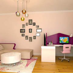 Girls Bedroom by KALYA İÇ MİMARLIK \ KALYA INTERIOR DESIGN, Modern Wood Wood effect