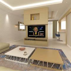 KALYA İÇ MİMARLIK – Antalya'da Bir Konut Yenileme Projesi:  tarz Oturma Odası,