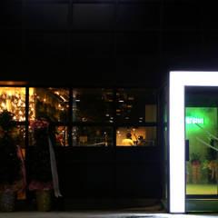정통돼지갈비 돌탑갈비: 주식회사 큰깃의  단층집,모던