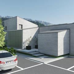 통삼리 단독주택: 삼공사건축사사무소의  전원 주택,모던