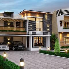 Casas de estilo  por CreoHomes Pvt Ltd, Asiático