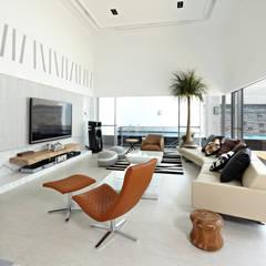 理想大地:  客廳 by 瑞嗎空間設計, 現代風