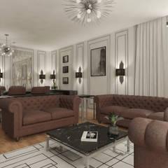 Haos Design & Architecture – Daire Projesi, Salon Tasarımı:  tarz Oturma Odası,