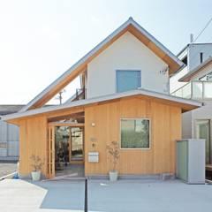de 一級建築士事務所 青木設計事務所 Asiático Madera Acabado en madera