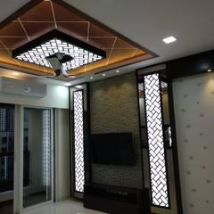Celing And T.V unit Modern Living Room by Clickhomz Modern
