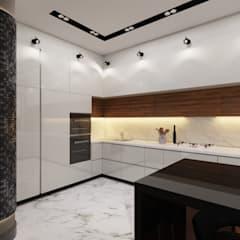 Cocinas equipadas de estilo  por Дизайн студия 'Чехова и Компания',