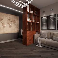 Dormitorios infantiles de estilo  por Дизайн студия 'Чехова и Компания', Industrial Ladrillos
