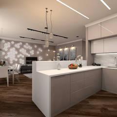 مطبخ تنفيذ Дизайн студия 'Чехова и Компания', إنتقائي MDF