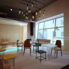 Lodziarnia Gelato Studio w Zabrzu: styl , w kategorii Gastronomia zaprojektowany przez Archi group Adam Kuropatwa,