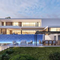 Multi-Family house by Traçado Regulador. Lda, Modern Wood Wood effect