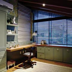 اتاق کار و درس توسطCarolina Fagundes - Arquitetura e Interiores