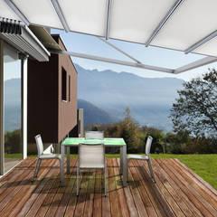 Pérgola Retráctil y Muebles para Exterior: Hoteles de estilo  por Parasoles Tropicales - Arquitectura Exterior,