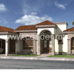 Casas unifamiliares de estilo  por CONDER S.A. de C.V., Clásico