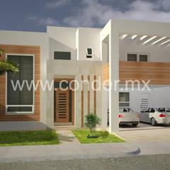 Дома на одну семью в . Автор – CONDER S.A. de C.V., Минимализм