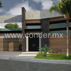 Detached home by CONDER S.A. de C.V.,