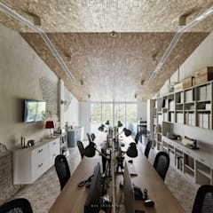 Study/office by 理絲室內設計有限公司 Ris Interior Design Co., Ltd., Mediterranean Chipboard