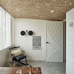 Study/office by 理絲室內設計有限公司 Ris Interior Design Co., Ltd., Mediterranean Bricks