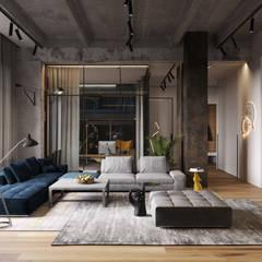 غرفة المعيشة تنفيذ Cartelle Design, صناعي