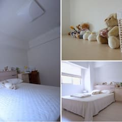 Dormitorios pequeños de estilo  por 大觀創境空間設計事務所 , Asiático