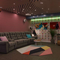 Salas multimedia de estilo  por Wide Design Group, Mediterráneo